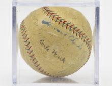 Signed Antique Baseball